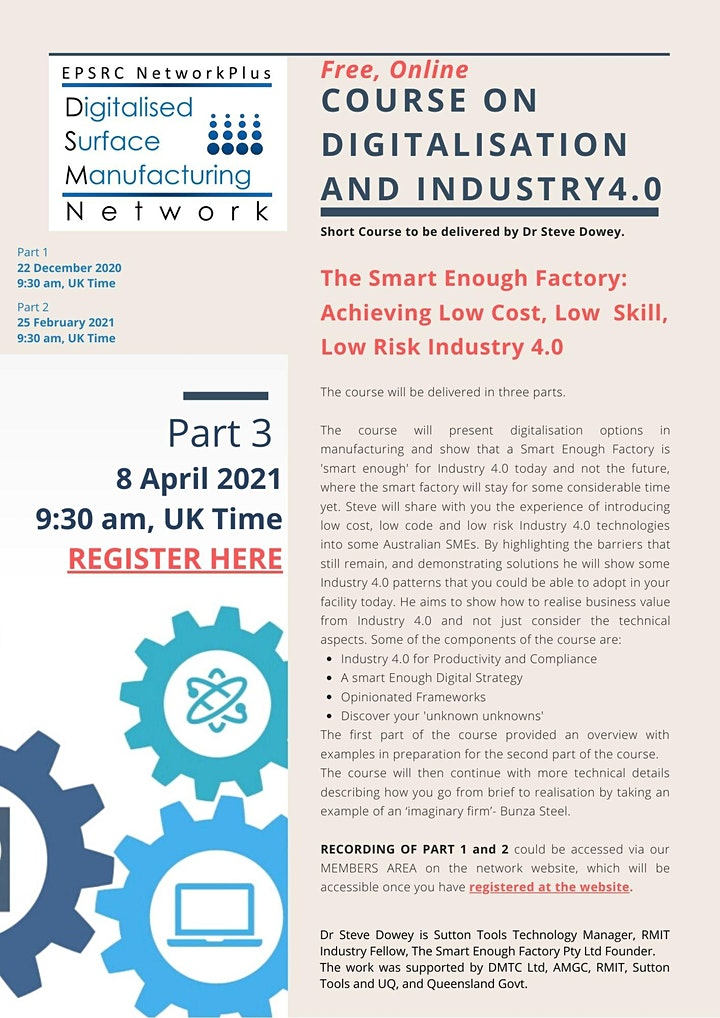 PART 3- DSM NetworkPlus FREE ON-LINE DIGITALISATION and INDUSTRY 4.0 COURSE image