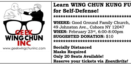 Wing Chun Self Defense Class tickets