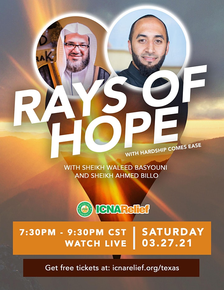 Rays  of Hope:  With Hardship Comes Ease - Houston image