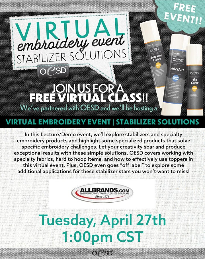 Allbrand's Virtual Embroidery Event image