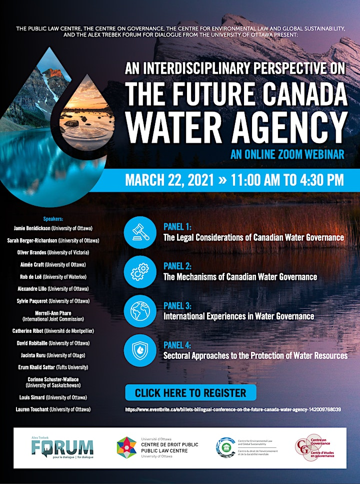 Image de Bilingual Conference on the Future Canada Water Agency