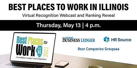 Best Places to Work in Illinois LIVE Ranking Countdown RecognitionWebcast tickets