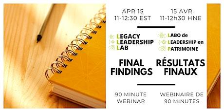 L3 Final Findings//Résultats finaux du LLP billets