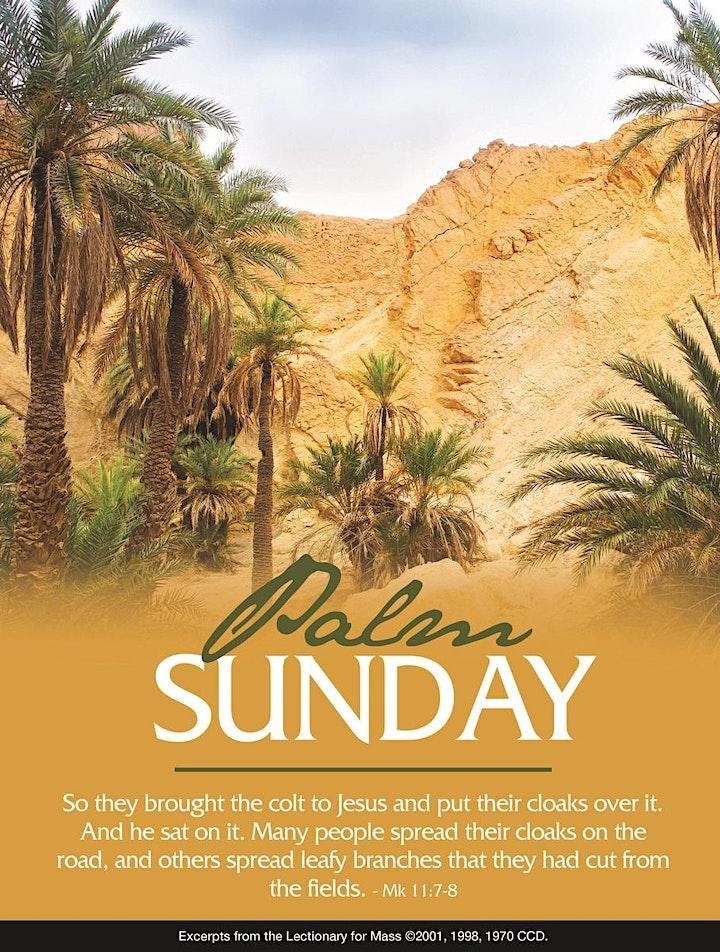 Palm Sunday 9:00AM Mass, March 28th image
