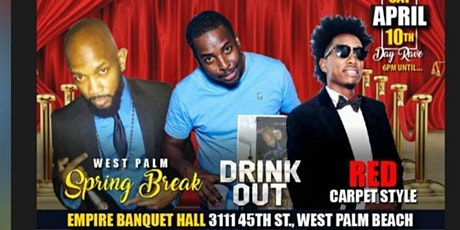 Copy of Spring break drink out red carpet style tickets