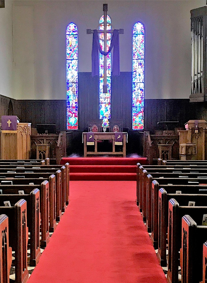 In-Person Worship Service, 11:00 A.M., April 18, 2021, Sanctuary image