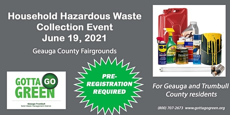 Geauga Household Hazardous Waste Collection tickets