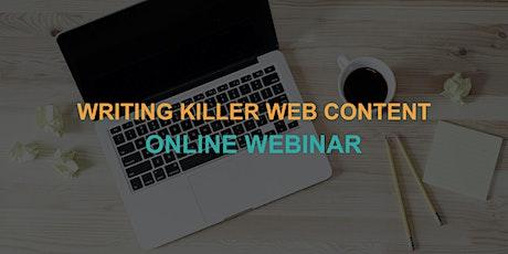 Writing Killer Web Content: Online Webinar tickets