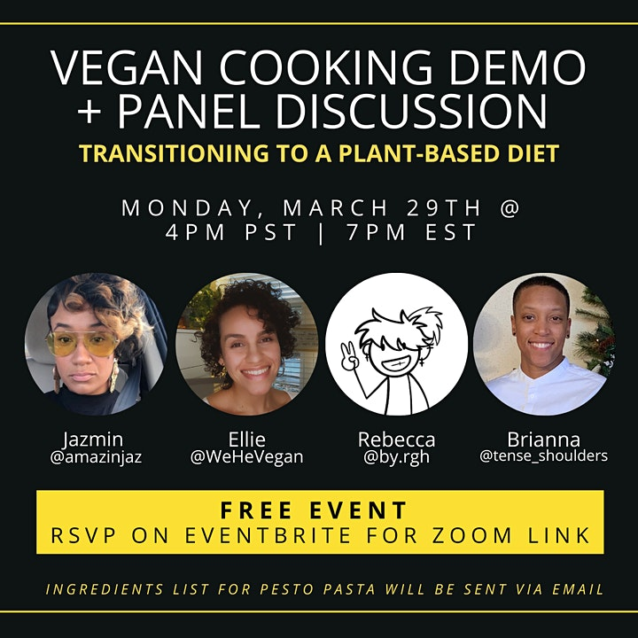 Vegan Cooking Demo + Panel Discussion image