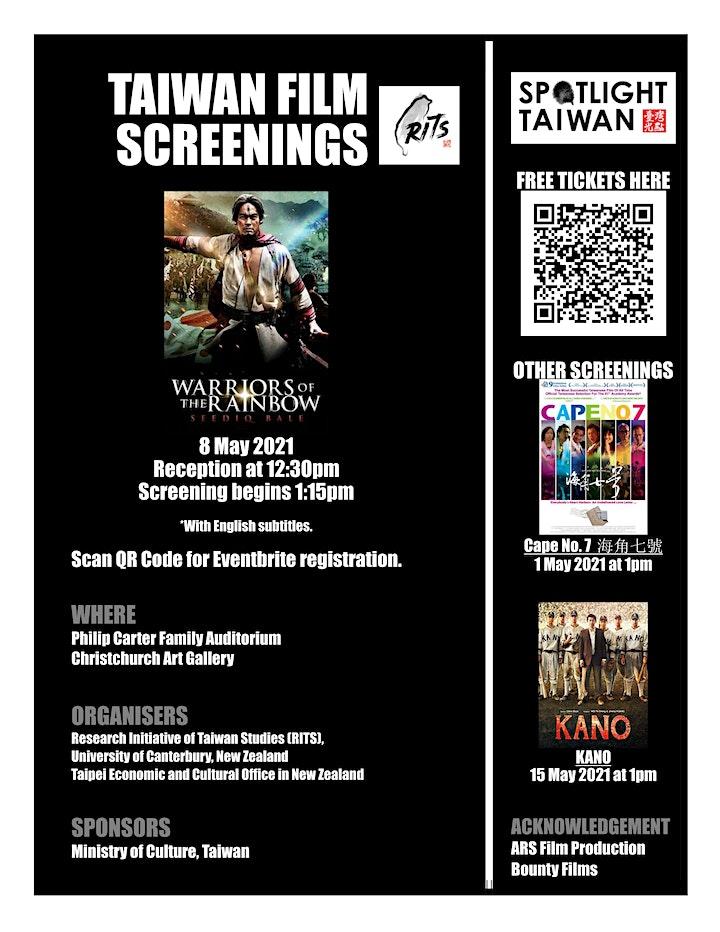 Taiwan Film Screening: Warriors of the Rainbow: Seediq Bale image