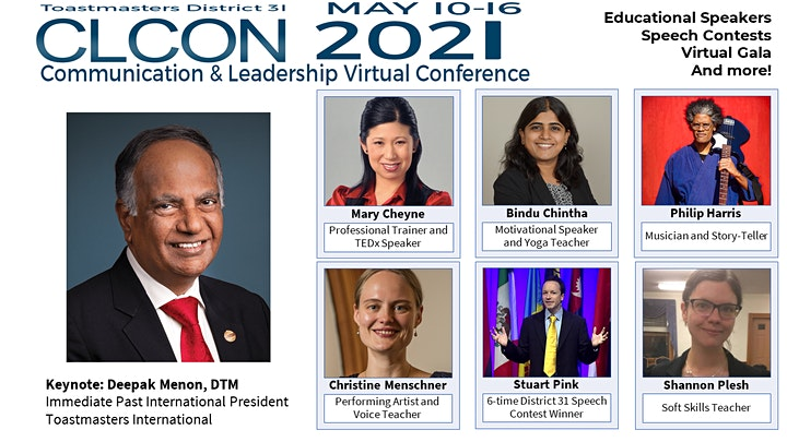 CLCON2021 Communication and Leadership Conference hosted by D31Toastmasters image