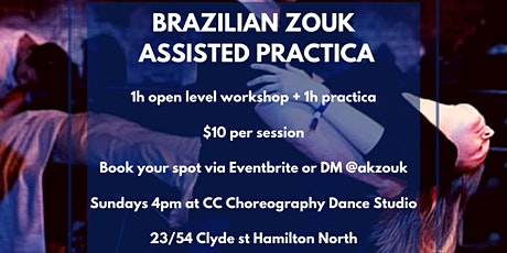 Brazilian Zouk assisted Practica tickets