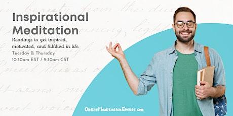 Inspirational Meditation (Free Online Meditation) Tickets