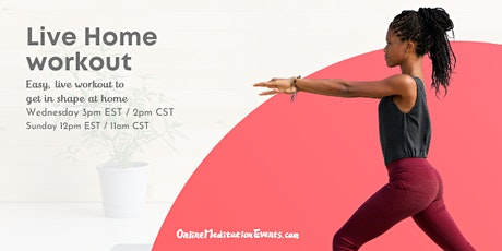 Live Home Workout (Free Online Session) tickets