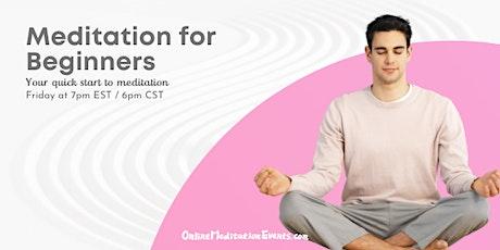 Meditation for Beginners (Free Online Meditation) tickets