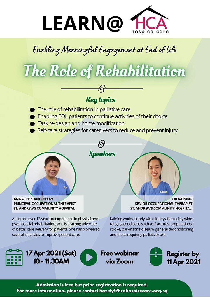 Learn@HCA #20: The Role of Rehabilitation at End of Life image