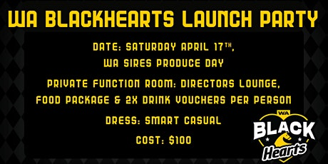 WA Blackhearts Launch - Owner Event tickets