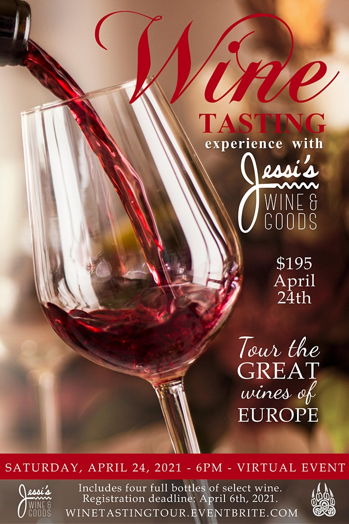 Wine Tasting - Virtual Tour of the Great Wines of Europe image