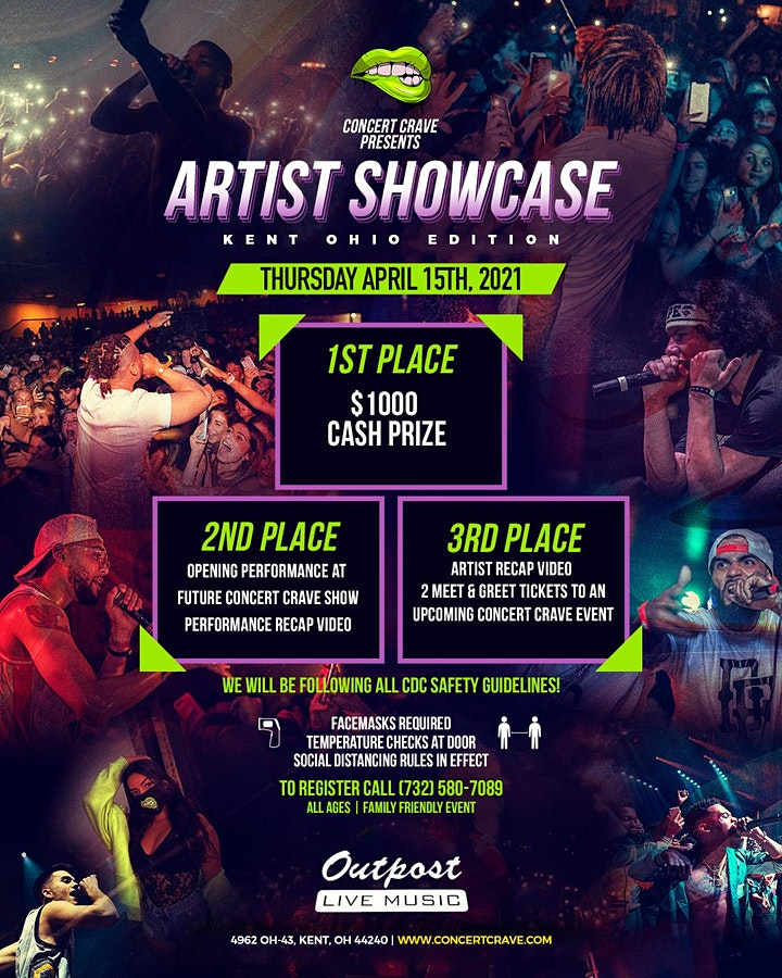 Concert Crave Artist Showcase - KENT, OH 4.15.21 image