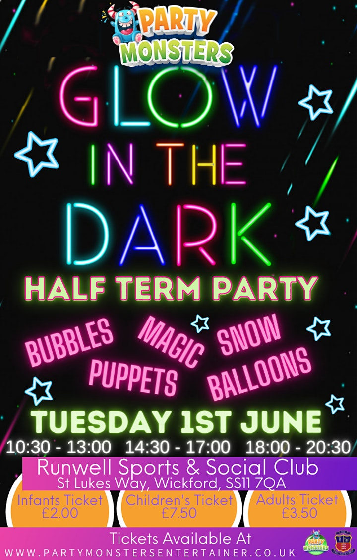 Party Monsters Glow In The Dark Half Term Party image