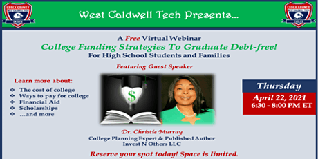 College Funding Strategies Webinar  (West Caldwell Tech) tickets