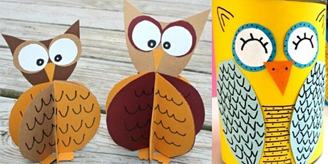 Paper craft and pencil tin owls (Mudgee Library, ages 9-12) tickets