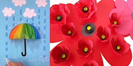 Paper artworks on canvas and Anzac poppies (Mudgee Library, ages 9-12) tickets