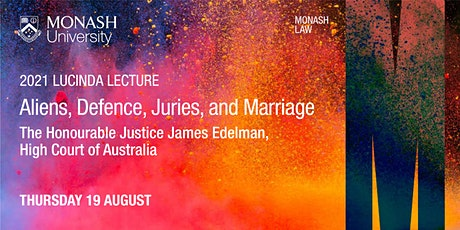 Lucinda Lecture: Aliens, Defence, Juries, and Marriage tickets