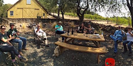 Outdoor tasting at Zeka Vineyards in Bennett Valley Sonoma tickets
