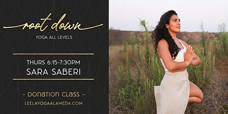 Root Down VIRTUAL Class with Sara Saberi THURSDAYS 6:15PM-7:30PM tickets
