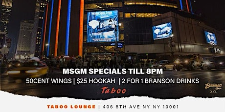 MSG MONDAYS @ TABOO tickets