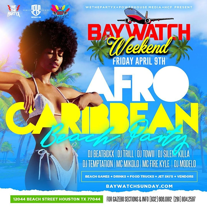 AFRO CARIBBEAN BEACH PARTY | BAYWATCH FRIDAY image