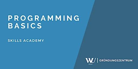 Skills Academy Webinar: Programming Basics Tickets