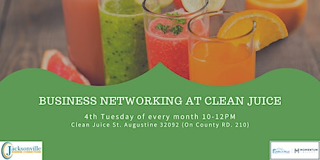 Business Networking at Clean Juice St Johns tickets