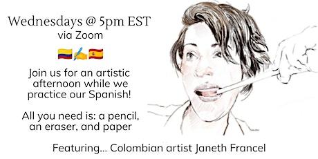 Café Culture: Let's Draw en español tickets
