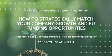 MPowerBIO BSP - How to Strategically Match Your Company Growth & EU funding tickets