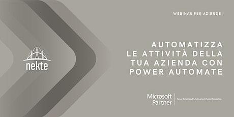 Automatizza le attività della tua Azienda con Power Automate biglietti