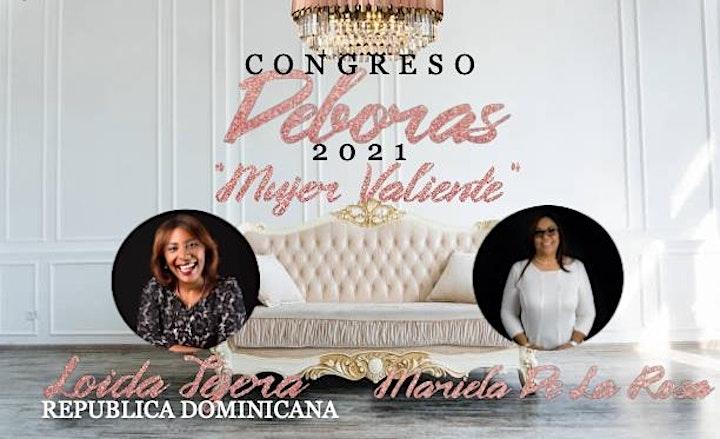 """Imagen de Congreso Debora 2021 """"Mujer Valiente"""""""