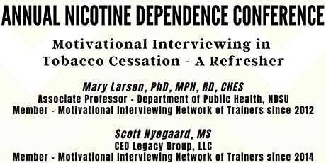 Annual Nicotine Dependence Conference 2021 tickets