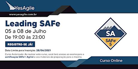 Leading SAFe com certificação SAFe® Agilist - Online - Português ingressos