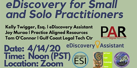 eDiscovery for Small and Solo Practitioners tickets