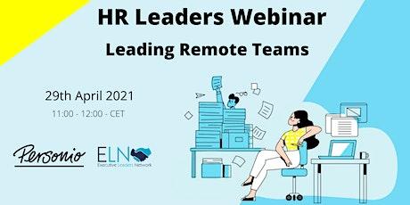 HR Leaders Webinar: Leading Remote Teams Tickets