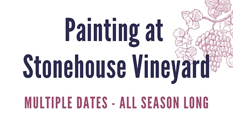 Painting at Stonehouse Vineyard billets