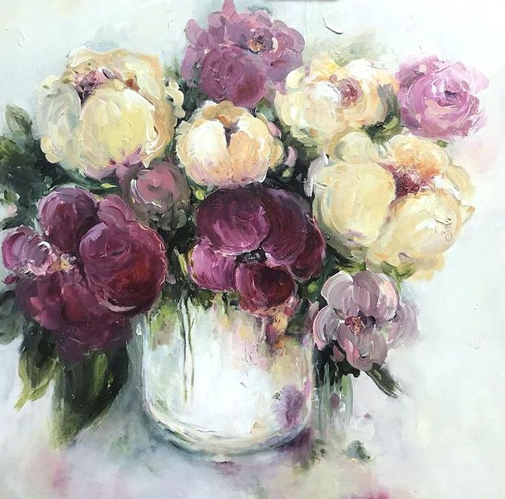 Loose Flowers in a Vase - Art Class image