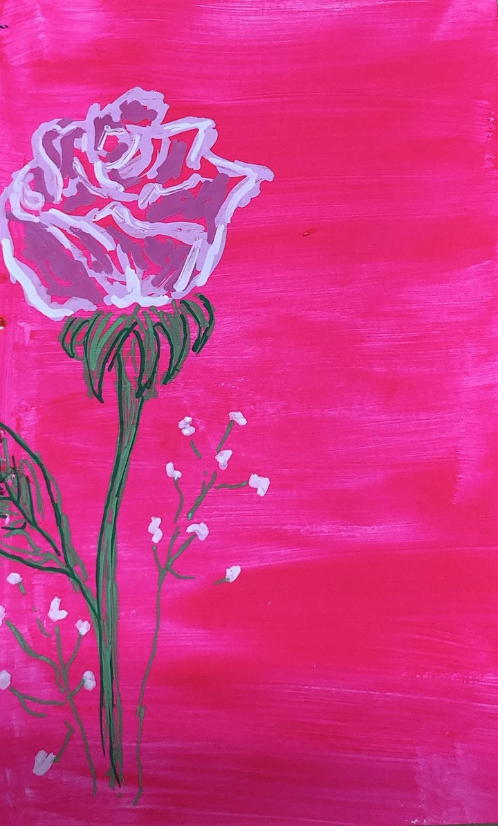 Rose Painting Art Class image