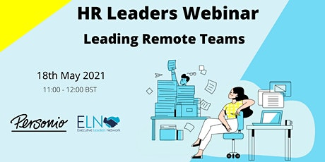HR Webinar- Leading Remote Teams tickets