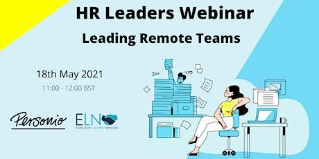 HR Webinar- Leading Remote Teams Tickets