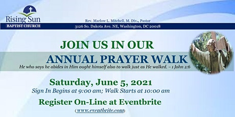 RISING SUN BAPTIST CHURCH IN DC  - 2021 PRAYER WALK tickets