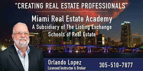 FLORIDA REAL ESTATE LICENSING VIRTUAL CLASS - ONLY 12 HOURS - 09-07-2021 tickets