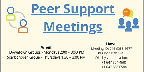 Peer Support Group Meetings tickets